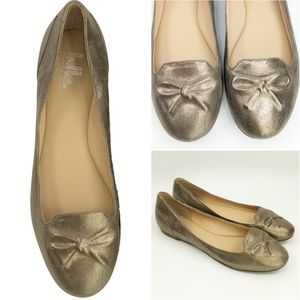 NEW Sigerson Morrison Gold Metallic Ballet Shoes 9